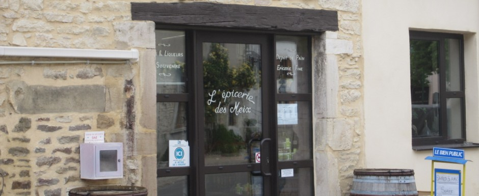 The epicerie in Puligny Montrachet is a hundred yards or so from our luxury holiday rental in Burgundy