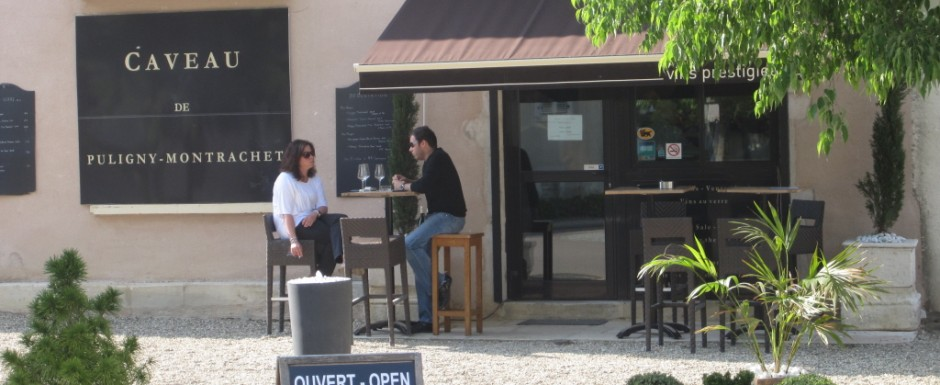 The fine-wine Caveau in Puligny Montrachet is a mere stroll from our luxury holiday rental in Burgundy