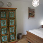 Our Tunisia-inspired bedroom at 10pm, our luxury holiday home in Burgundy (Puligny Montrachet, Cote d'Or)