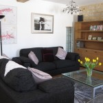 Winter is the living area ain our luxury vactation rental in Burgundy (Puligny Montrachet) with ample space for six people