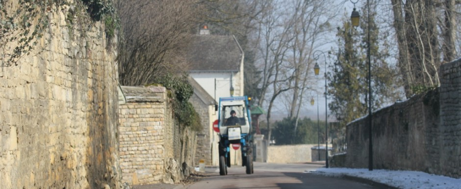 These high wheeled tractors are essential for tending the Burgundian vineyards and they are such fun!