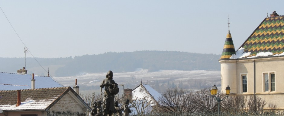 The Burgundian roofs in Meursault are a sight to behold. In winter, Spring, Summer or Autumn.