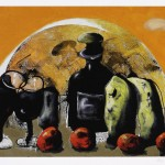 Still Life with Wine and Tomatoes II, by Chris Gollon, a good friend of 10pm and lover of Burgundy wines