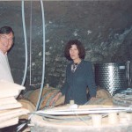 Peter Noble of 10pm (10 Grande Rue Puligny Montrachet) with Christianne Bachey-Legros proprieter of Domain Bachey Legros in Santenay, Butgundy