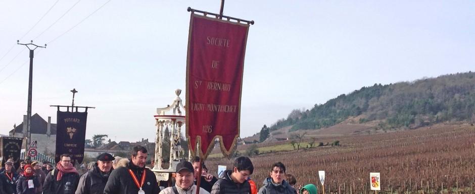 winter slider Saint Vincent celebrations near our luxury vacation rental in Puligny Montrachet, Burgundy