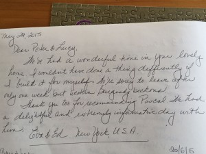 Guest feedback for 10pm, our luxury vacation rental in Puligny Montrachet, near Beaune, Burgundy
