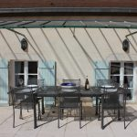 Terrace dining at 10pm, our luxury vacation rental in Puligny-Montrachet, near beaune, Burgundy